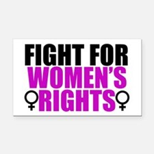 Women's Rights Rectangle Car Magnet