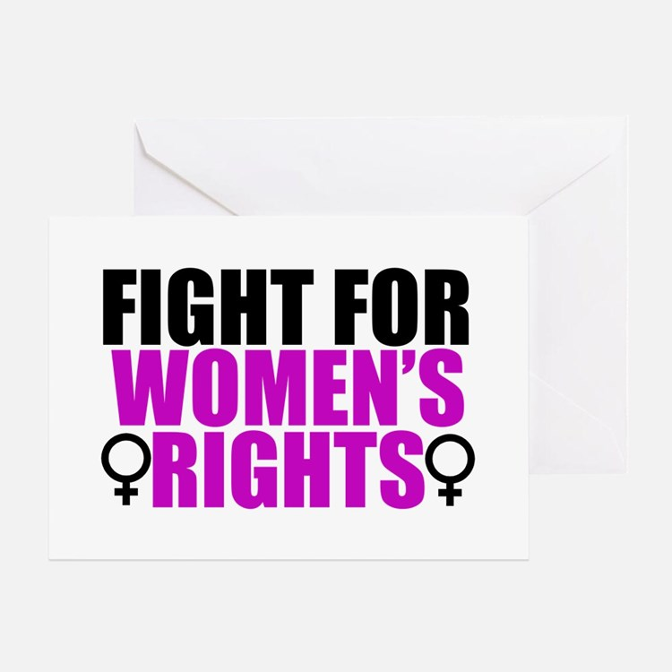 Women's Rights Greeting Card