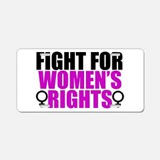 Women's Rights Aluminum License Plate