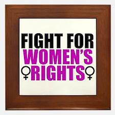 Women's Rights Framed Tile