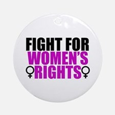 Women's Rights Ornament (Round)