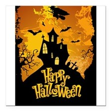 "Halloween Square Car Magnet 3"" x 3"""