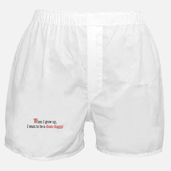 ... a chess champ Boxer Shorts