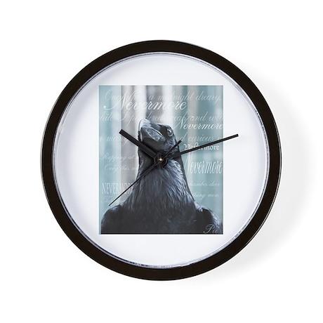 Proud Raven Wall Clock