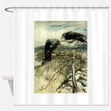 Two Ravens Shower Curtain