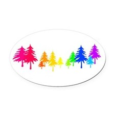 evergreen.png Oval Car Magnet