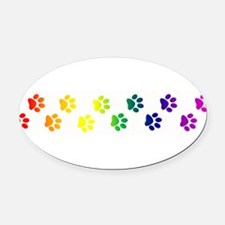 paws copy.png Oval Car Magnet