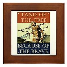 Land of the Free Framed Tile