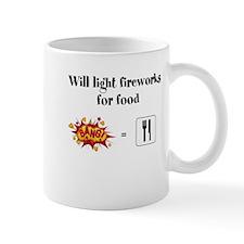 Will Light Fireworks For Food Mug