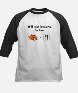 Will Light Fireworks For Food Baseball Jersey