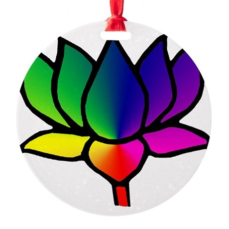 lotus filled.png Round Ornament