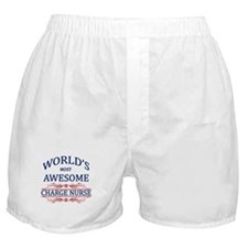 World's Most Awesome Charge Nurse Boxer Shorts