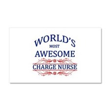 World's Most Awesome Charge Nurse Car Magnet 20 x
