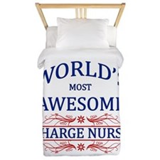 World's Most Awesome Charge Nurse Twin Duvet