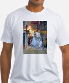 Lady reading by lamp T-Shirt