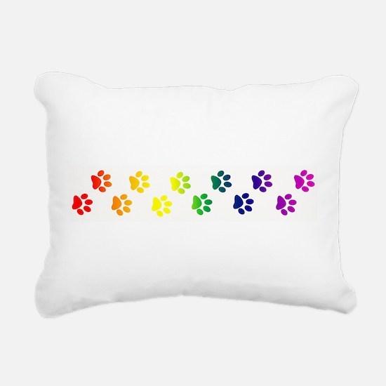 paws copy.png Rectangular Canvas Pillow