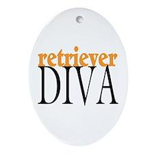 Retriever Diva Oval Ornament