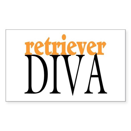 Retriever Diva Rectangle Sticker