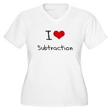 I love Subtraction Plus Size T-Shirt