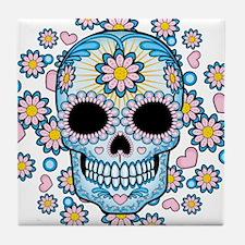 Colorful Sugar Skull Tile Coaster