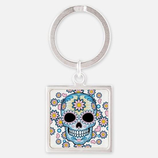 Colorful Sugar Skull Keychains