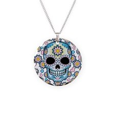 Colorful Sugar Skull Necklace