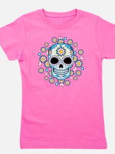 Colorful Sugar Skull Girl's Tee
