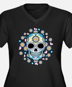 Colorful Sugar Skull Plus Size T-Shirt