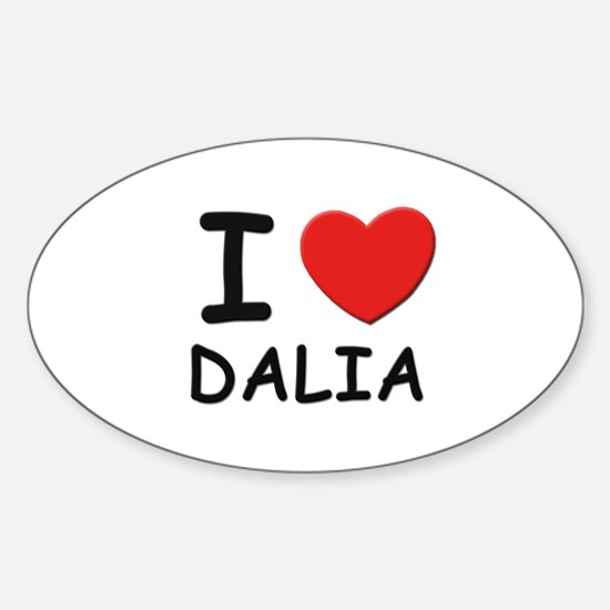 I love Dalia Oval Decal