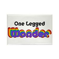 One Legged Wonder Rectangle Magnet