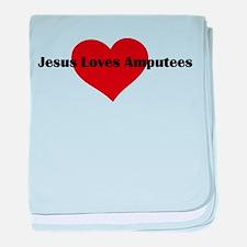 Jesus Loves Amputees baby blanket