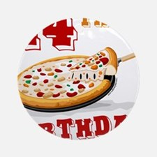 14th Birthday Pizza Party Ornament (Round)