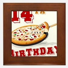 14th Birthday Pizza Party Framed Tile