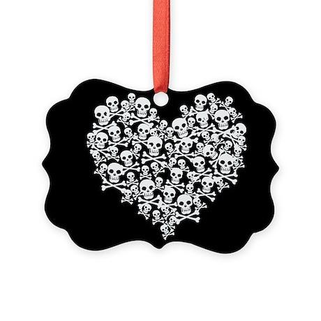 Skull Heart Picture Ornament