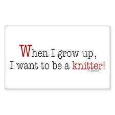 ... a knitter Rectangle Decal