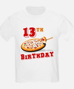 13th Birthday Pizza party T-Shirt