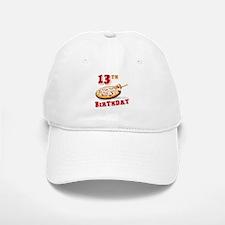 13th Birthday Pizza party Baseball Baseball Cap