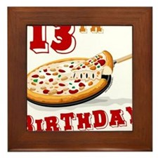 13th Birthday Pizza party Framed Tile