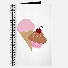 Sweet Treats Cupcake and Ice Cream Journal