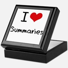 I love Summaries Keepsake Box