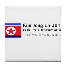 Kim Jong Un 2016 Tile Coaster