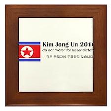 Kim Jong Un 2016 Framed Tile
