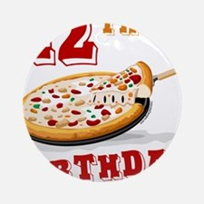 12th Birthday Pizza Party Ornament (Round)