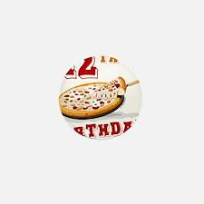 12th Birthday Pizza Party Mini Button