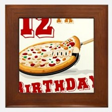12th Birthday Pizza Party Framed Tile