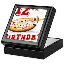 12th Birthday Pizza Party Keepsake Box