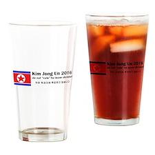 Kim Jong Un 2016 Drinking Glass