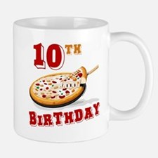 10th Birthday Pizza Party Mug