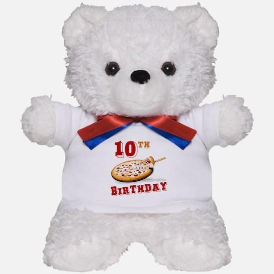 10th Birthday Pizza Party Teddy Bear
