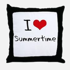 I love Summertime Throw Pillow